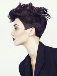 Short Fohawk Haircut For Women