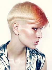 Womens Short Punk Haircut With Undershave