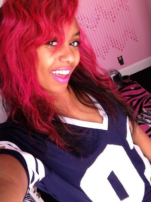 Bahja Rodriguez Omg Girlz Fuchsia Hair Color