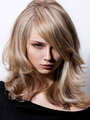 Beige Blonde With Plantinum Blonde Highlights