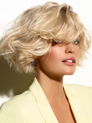 Blonde Bob Hairstyle With Platinum Highlights