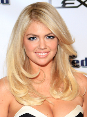 Kate Upton Golden Blonde Hair With Platinum Highlights