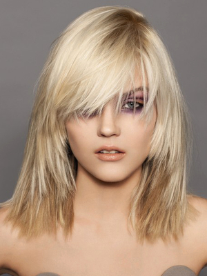 Multi Blonde Hair Color With Platinum Highlights