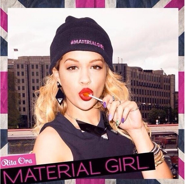 Rita Ora Material Girl Fall 2013 Ad