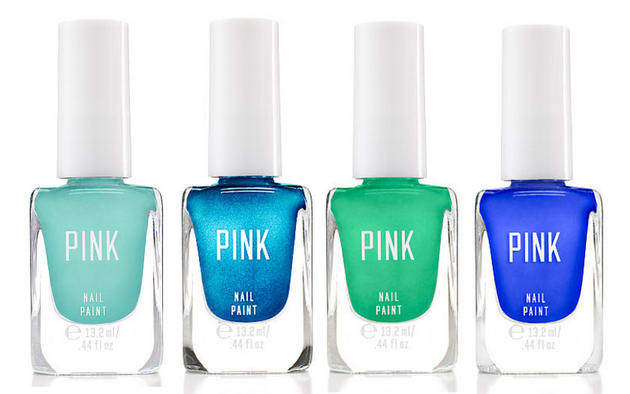 Victoria's Secret Pink Nail Paint Blues And Greens