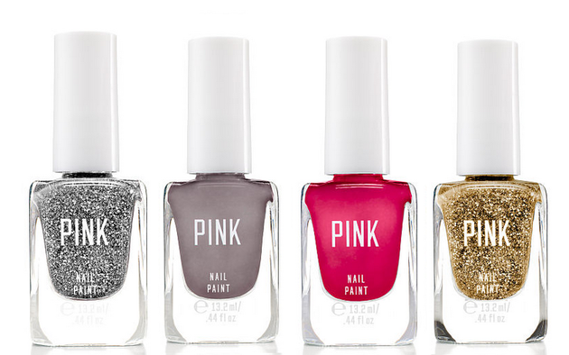 Victoria's Secret Pink Nail Paint Glitters And Creams