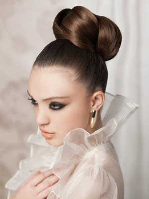 Sleek Twisted Updo For Brides