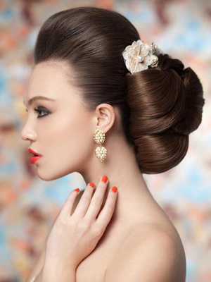 Voluminous Bridal Updo Hairstyle