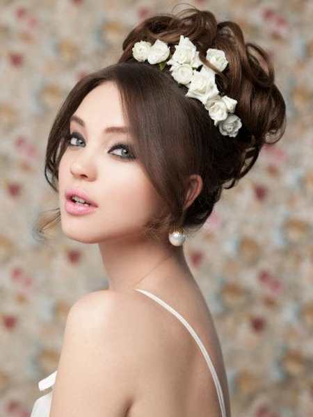 Brilliant Pictures Wedding Hairstyles For Long Hair Curly Bridal Short Hairstyles Gunalazisus