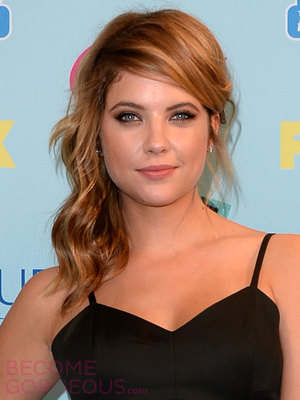 Ashley Benson Side Half Updo