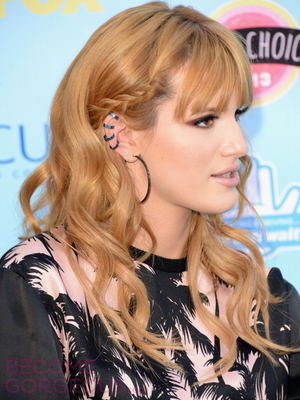 Bella Thorne Side Braid With Curls