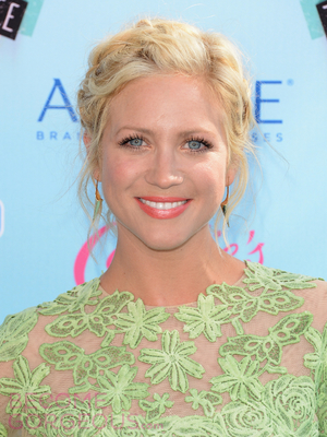 Brittany Snow Messy Updo Hairstyle