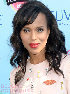 Kerry Washington Wavy Hairstyle