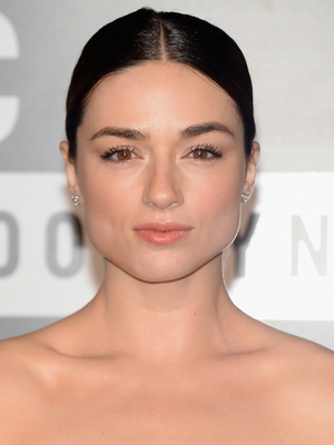 Crystal Reed Slicked Updo