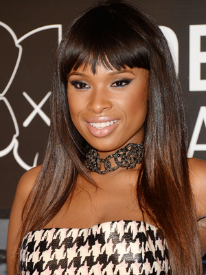 Jennifer Hudson Layered Hair With Bangs