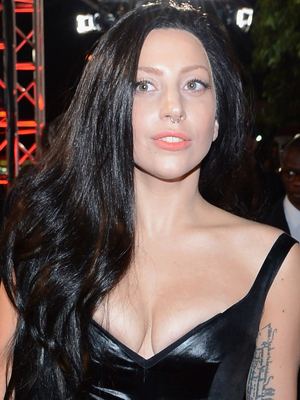 Lady Gaga Long Black Hairstyle