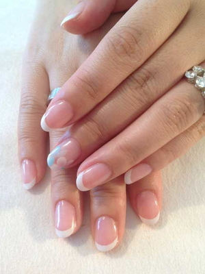 French Nail Art With Accent