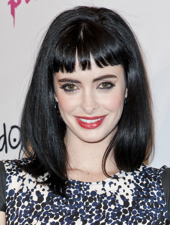 oblong face hairstyles men : Pictures : Bangs or No Bangs ? Celebrity Hairstyles - Krysten Ritter ...