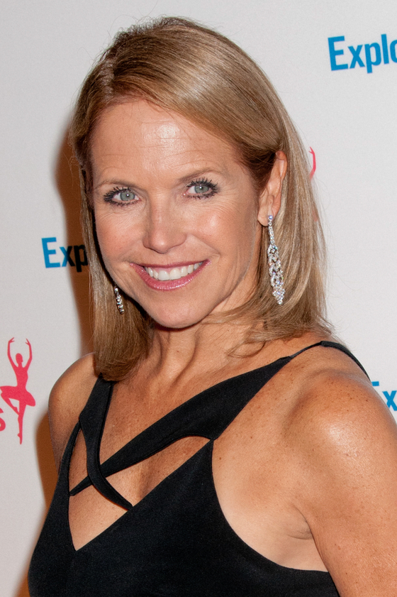 Katie Couric Blonde Hair Color