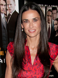 Demi Moore Black Hair Color