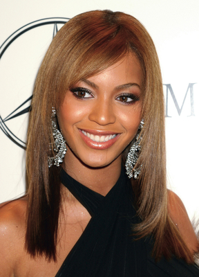 Beyonce Side Swept Bangs Hairstyle