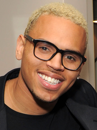 Chris Brown Blonde And Blue Hair