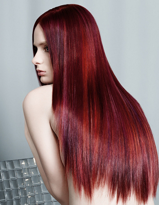 Burgundy Hair With Highlights