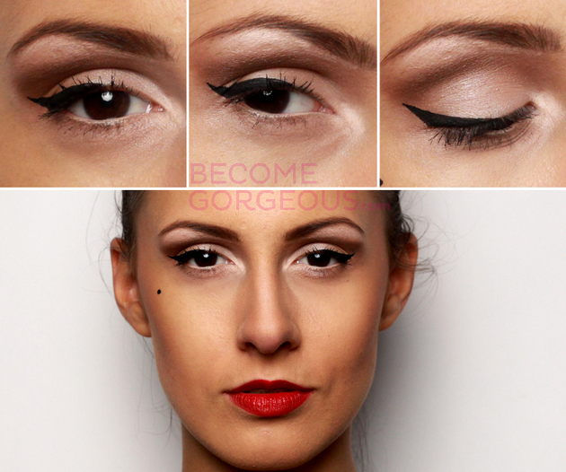 Pin Up Eye Makeup Steps