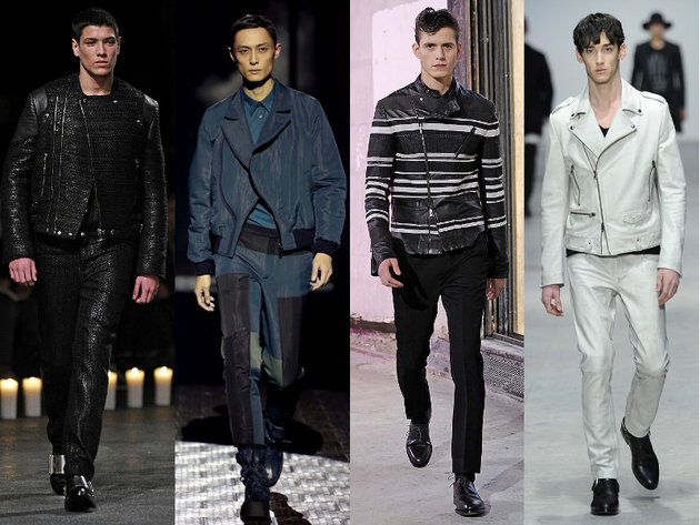 Moto Jackets Menswear Trend Fall 2013