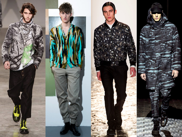 New Camo Menswear Trend Fall 2013