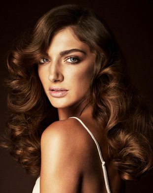 Chocolate Hair Color Idea For Tanned Skin