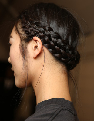 Double French Braid Updo Viktor And Rolf