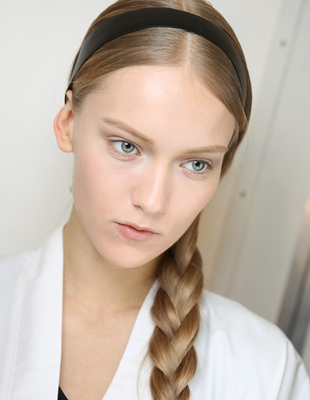 Low Braided Ponytail Valentino