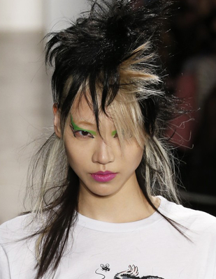 Punk Choppy Layered Hair Jeremy Scott