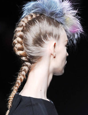 Punk Mohawk Braided Hair Fendi