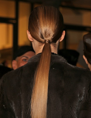 Straight Low Ponytail John Galliano
