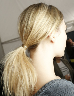 Textured Low Ponytail Milly