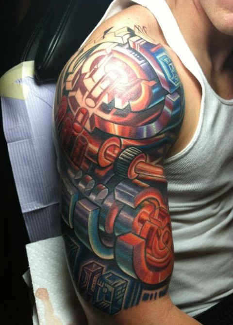 Colorful Arm Tattoos For Men
