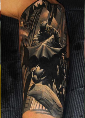 Batman Half Sleeve Tattoo