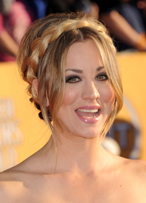 Kaley Cuoco Braided Hair