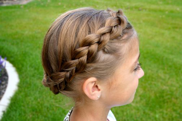 Braided Headband Hairstyles On Little Girls