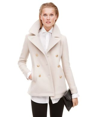 J Crew Majesty Peacoat Dark Bone