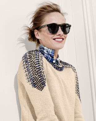 J Crew Cashmere Jeweled Sweater