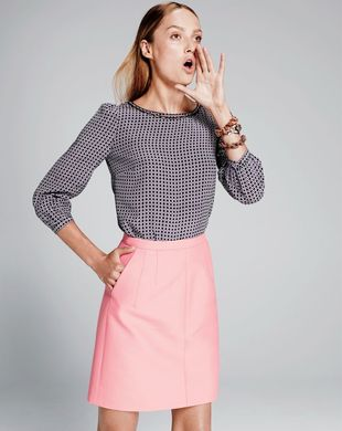 J Crew Scalloped Cutout Silk Top