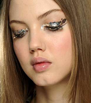 Chunky Glitter Eye Makeup Chanel