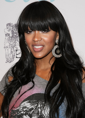 Meagan Good Blunt Bangs Hairstyles