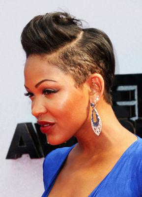 Meagan Good Razor Cut Short Hairstyle