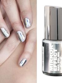 Mirror Image Nail Polish and Mirrored Nail Effects