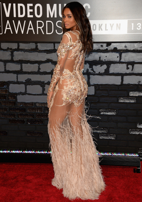 Ciara Givenchy Embroidered Gown