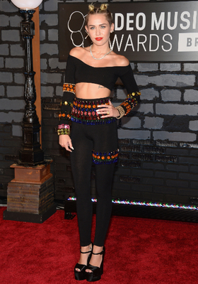 Miley Cyrus Crop Top And Leggings